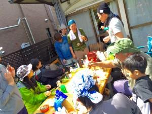 川遊び 宴会