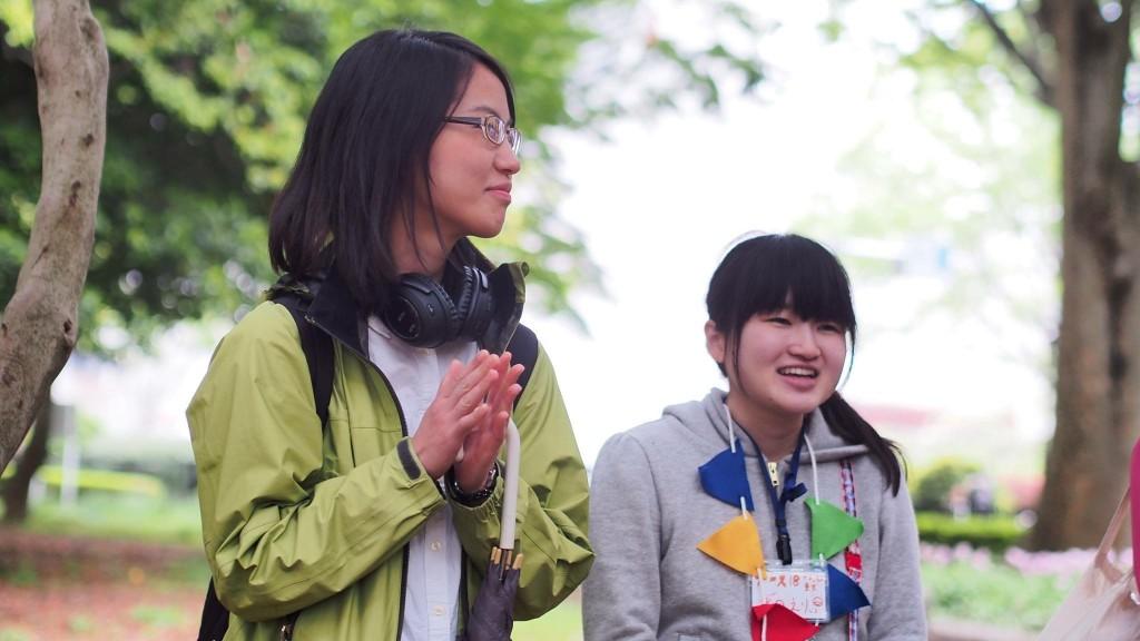 参加者の笑顔