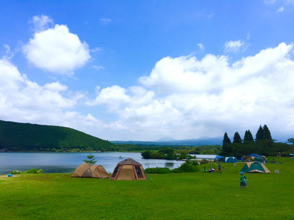 田貫湖テントサイト。