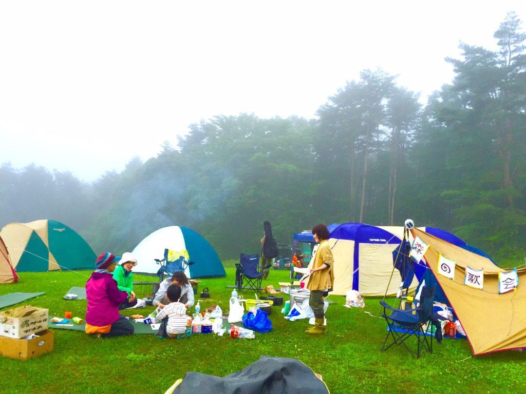 清里キャンプ風景