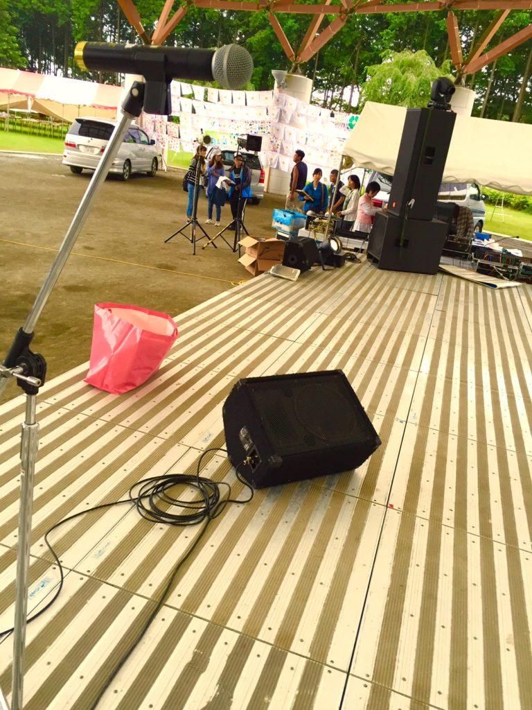 ステージ近景。