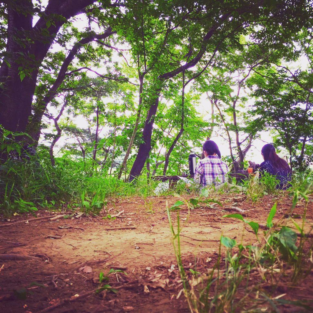 森で過ごす風景。