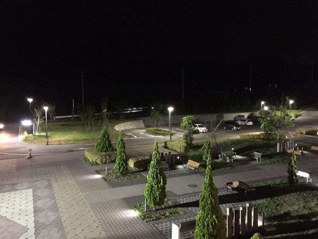 駐車場風景。