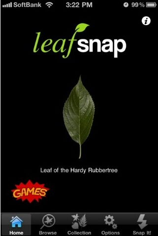 leafsnap起動画面