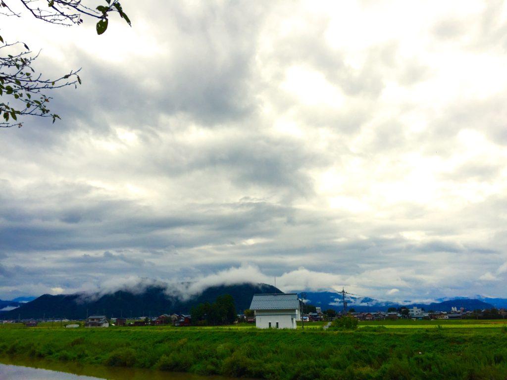 台風の雲。