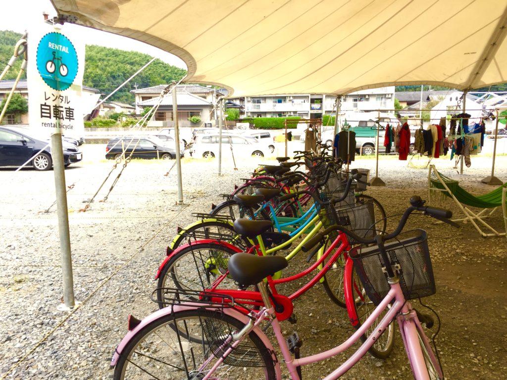 自転車レンタル。