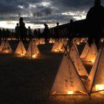 震災後6カ月。村民達の再会の灯。10/16(日)森の旅134日目、熊本県南阿蘇村。