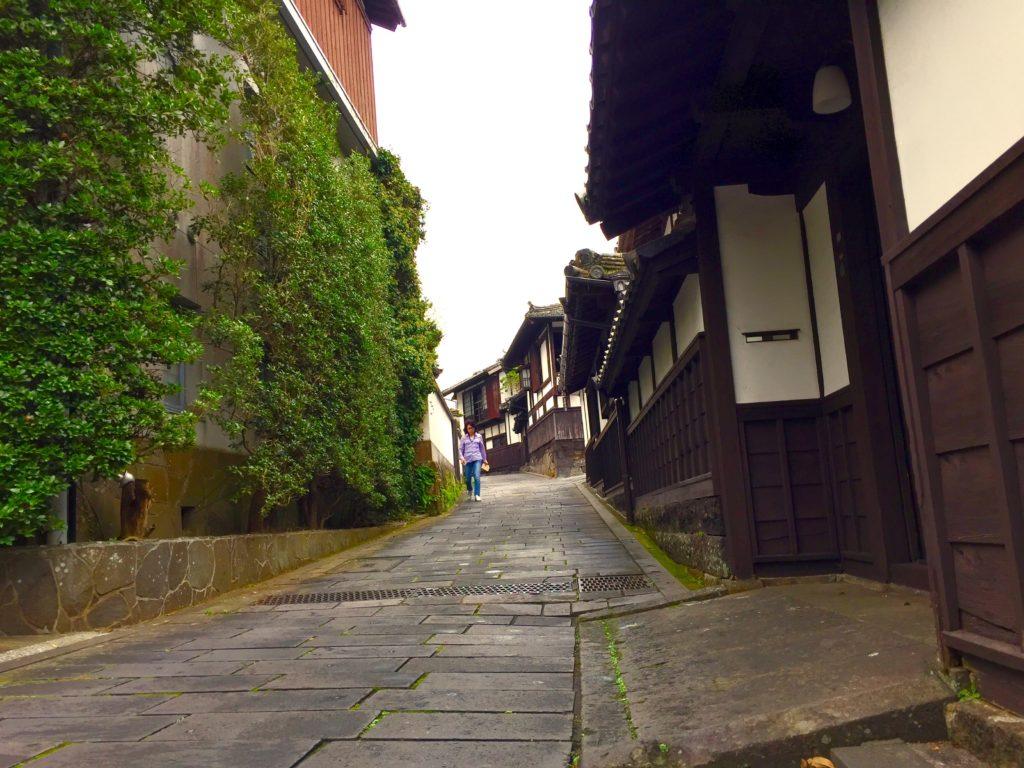 臼杵市の街並み。