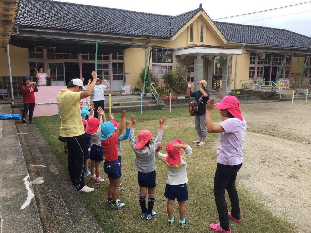 臼杵幼稚園にて2