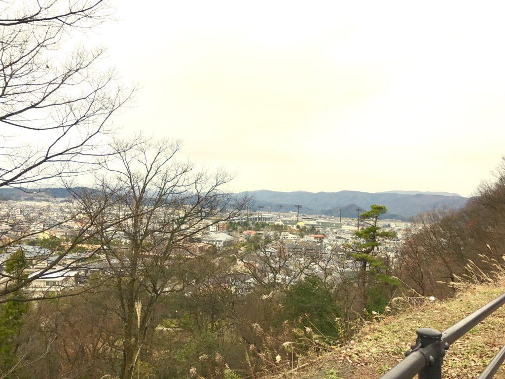 足羽山からの絶景。
