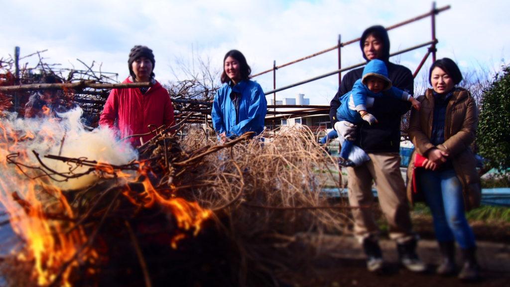 たき火は暖かい!
