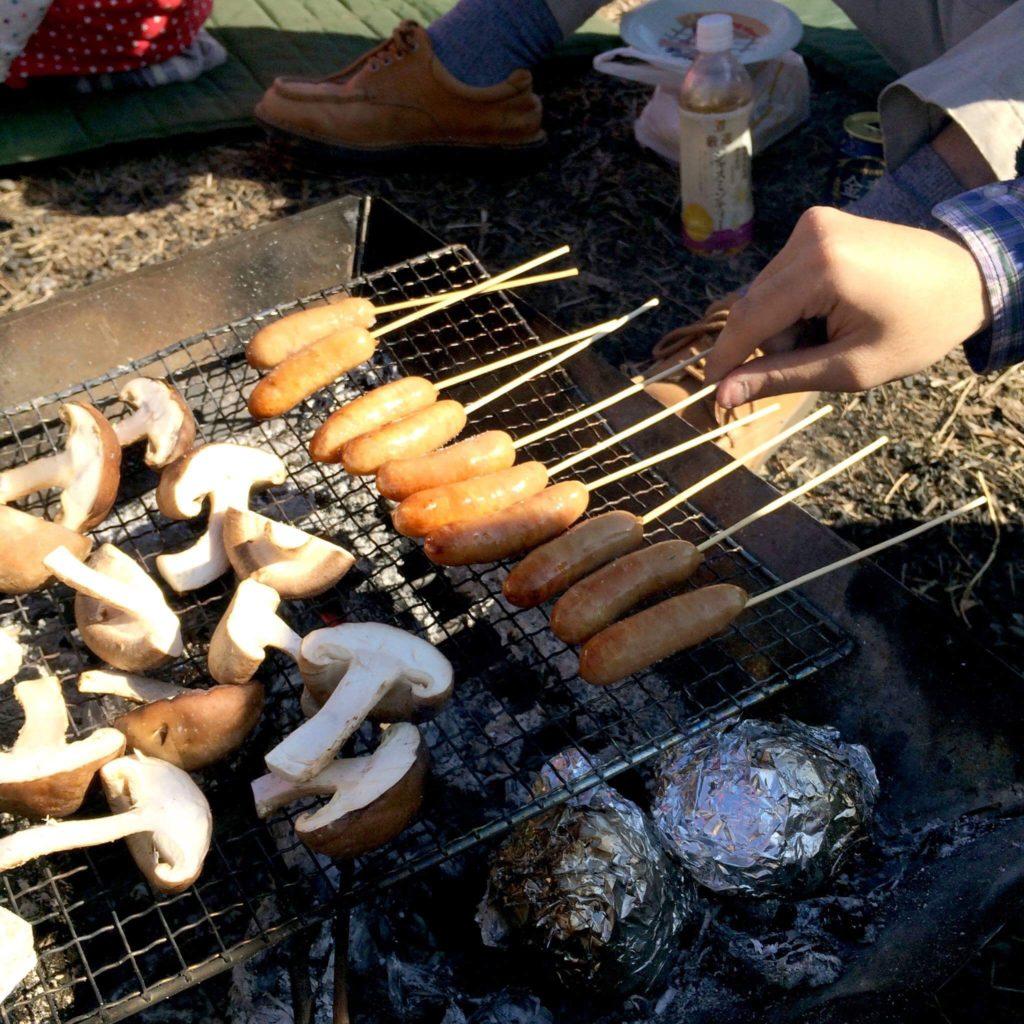 焚き火で料理!!