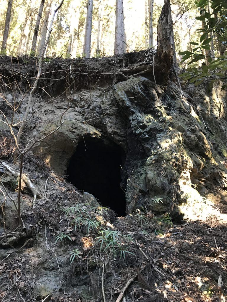 謎の洞窟。