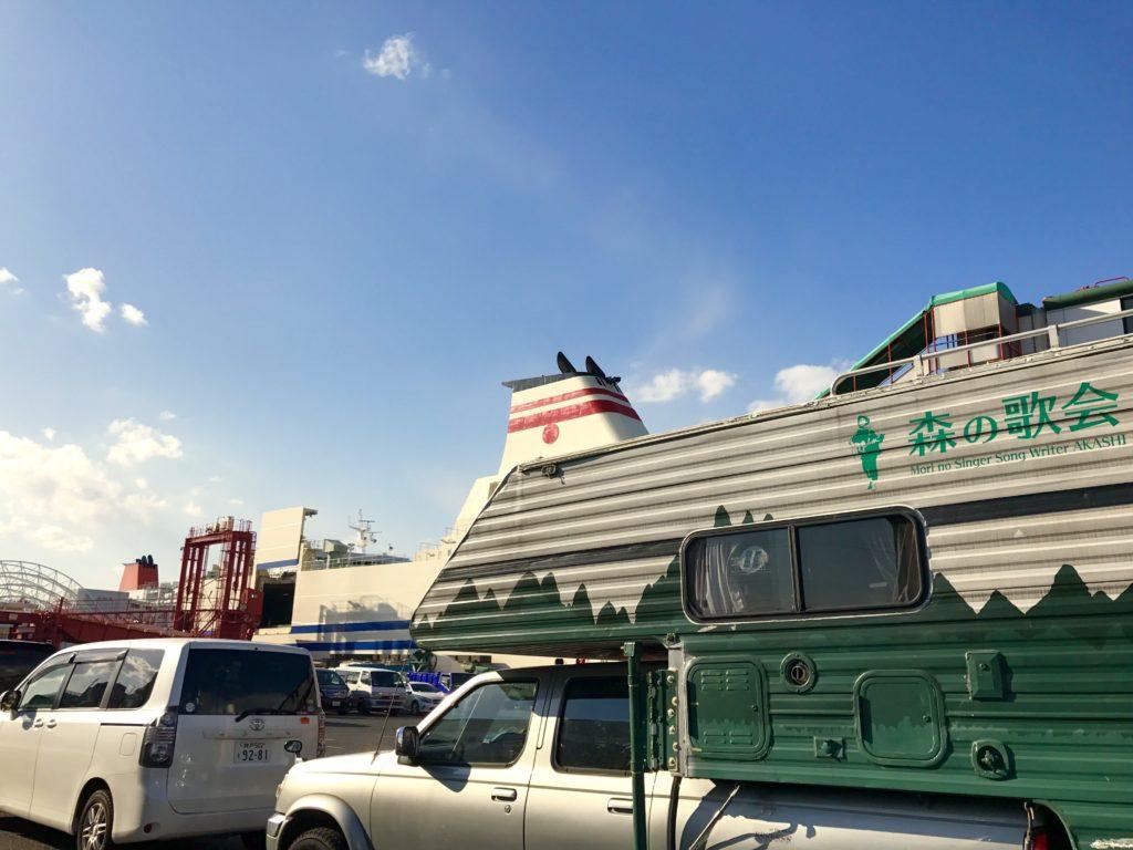 神戸六甲アイランド港にて。