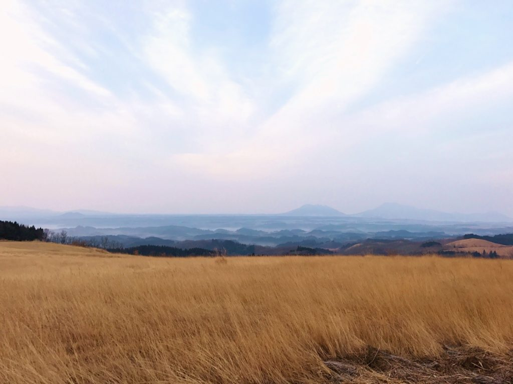 高原の風景。
