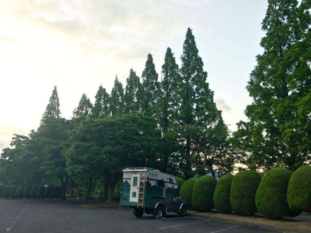 滋賀の運動公園。