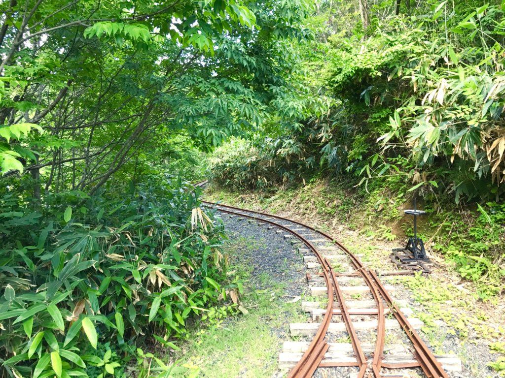 線路の道。