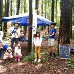 小さい頃から間伐をしてきた子ども達。レポート「森の歌会&皮むき間伐」