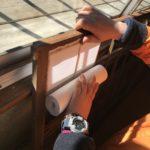 アニマnetさんの日常。障子紙張り替え!キャンピングカーで森の旅552日目。