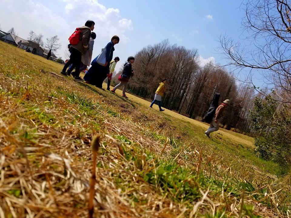 草原を歩く。